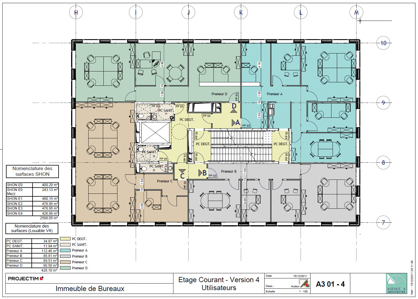 Plan immeuble en etage maison moderne for Immeuble bureau plan
